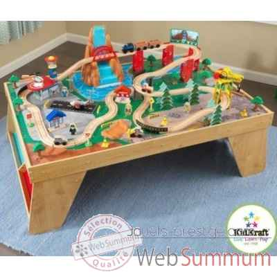 Ensemble table et train cascade naturelle KidKraft -18001