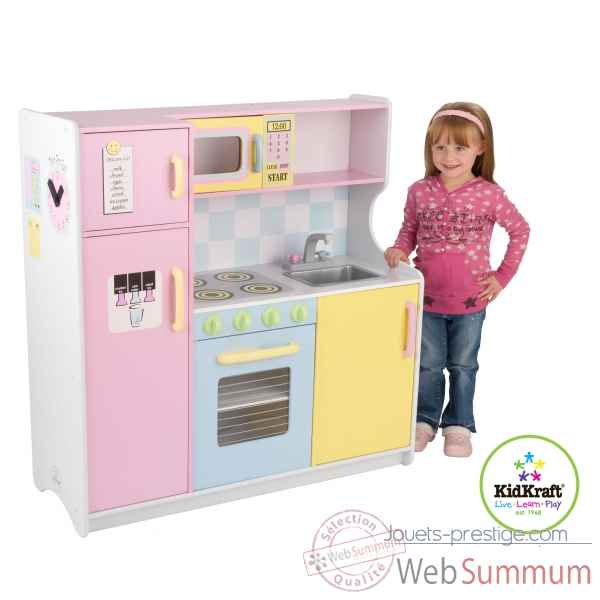 grande cuisine pastel kidkraft dans cuisine enfant kidkraft sur jouets prestige. Black Bedroom Furniture Sets. Home Design Ideas