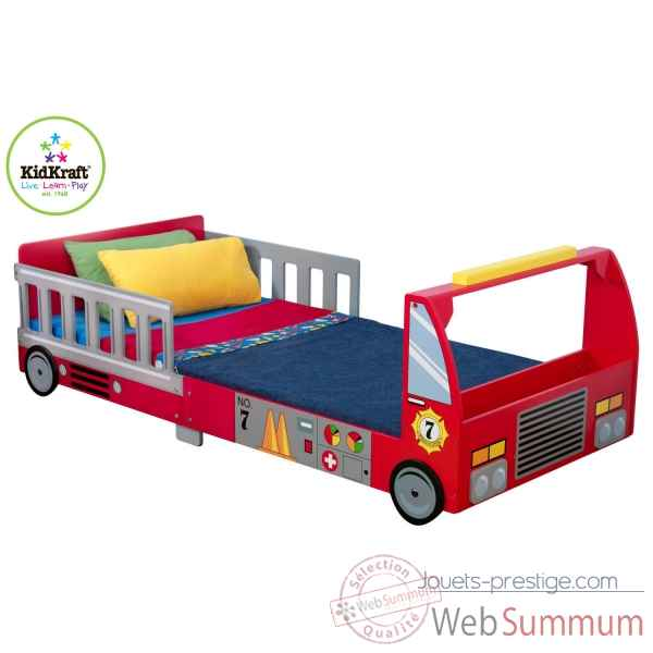 lit camion de pompier kidkraft dans cuisine enfant. Black Bedroom Furniture Sets. Home Design Ideas