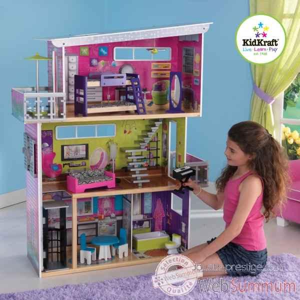 ma maison de poup es moderne kidkraft 65382 photos. Black Bedroom Furniture Sets. Home Design Ideas