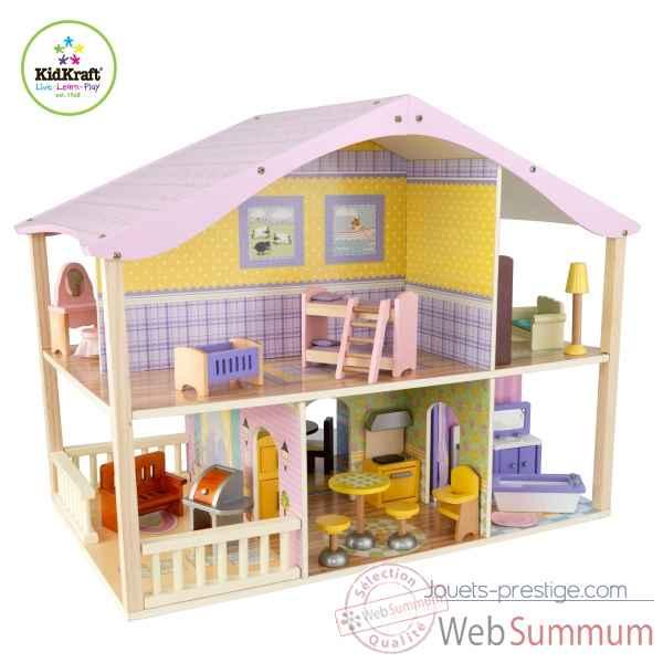 maison de poup es pivotante pastel kidkraft 65260 dans cuisine enfant kidkraft. Black Bedroom Furniture Sets. Home Design Ideas