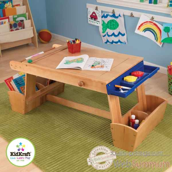 table de dessin avec support de s chage et rangement kidkraft sur jouets prestige. Black Bedroom Furniture Sets. Home Design Ideas