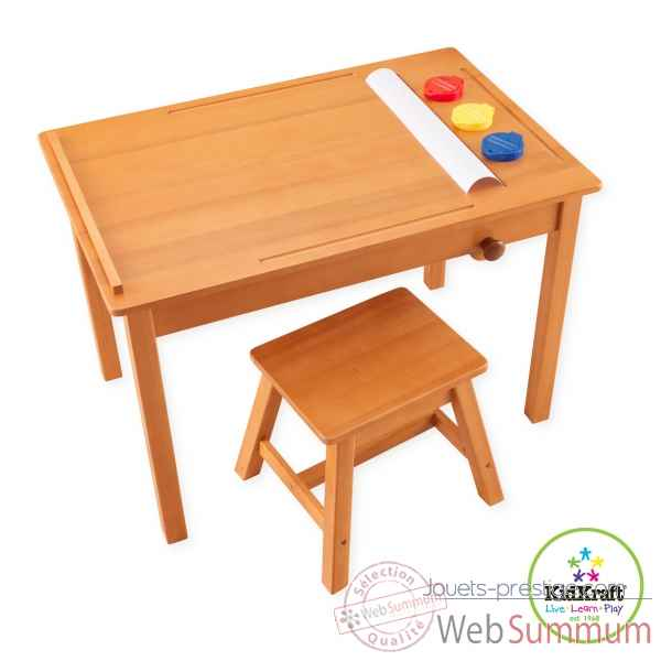 table de dessin avec tabouret kidkraft 26952 dans cuisine. Black Bedroom Furniture Sets. Home Design Ideas