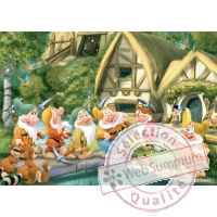 Puzzles disney blanche neige 100 pcs -2 King Puzzle BJ04754B