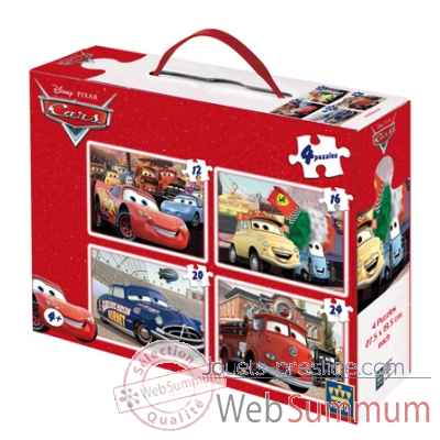 Puzzles 4 en 1 disney cars  King Puzzle BJ04782