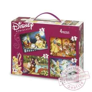 Puzzles 4 en 1 disney princesses 2 King Puzzle BJ01778