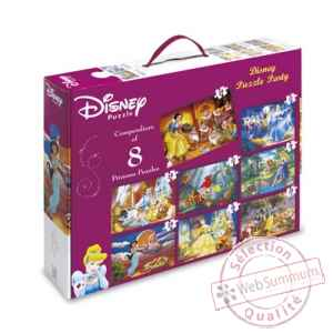 Puzzles 8 en 1 disney princesses King Puzzle BJ01795