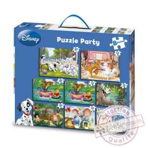 Puzzles 8 en 1 disney puzzle party King Puzzle BJ04796
