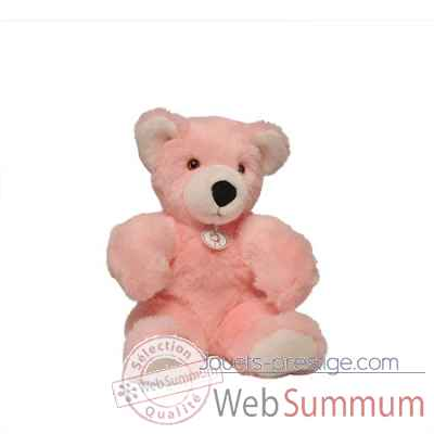 peluche Ours martin peluche - 50 cm - rose les petites maries -FABH3OURMARRO