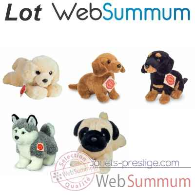 Lot 5 peluches petits chien Hermann -LWS-505
