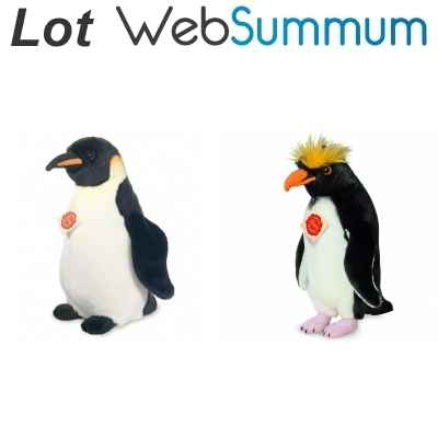 Lot 2 peluches Pingouin -LWS-392