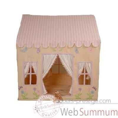 maisonnette tissu th me papillon petit enfant dans maison. Black Bedroom Furniture Sets. Home Design Ideas