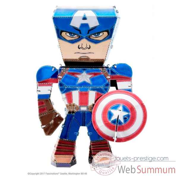 Maquette 3d en metal avengers-capitaine amerique Metal Earth -5060001