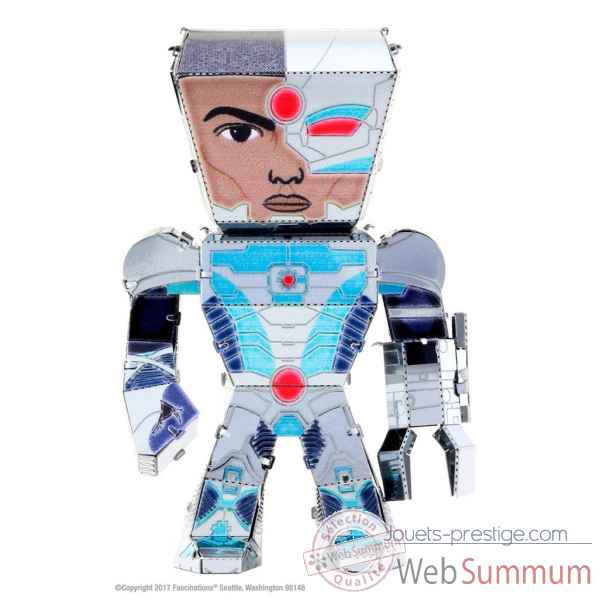 Maquette 3d en metal justice league-cyborg Metal Earth -5060023