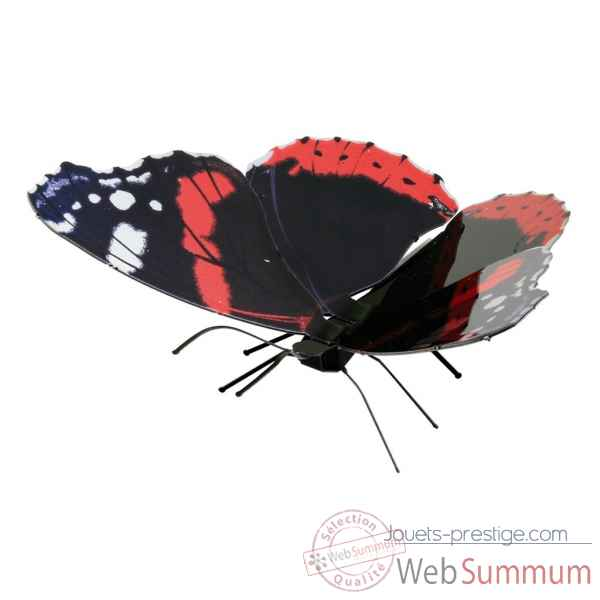 Maquette 3d en metal papillon red admiral Metal Earth -5061129