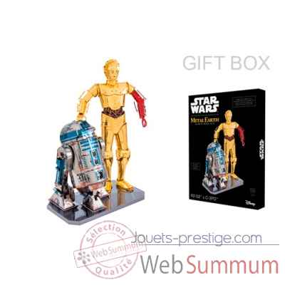 Maquette 3d en metal star wars - r2-d2 & c-3po Metal Earth -5060372