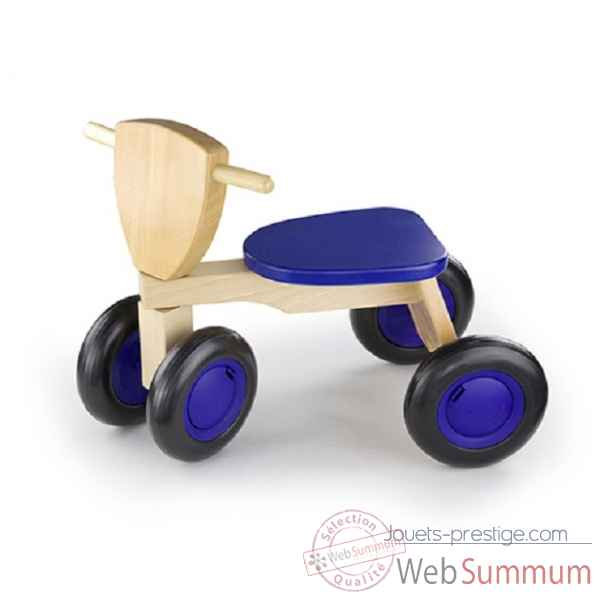 tricycle bois de hetre road star bleu New classic toys -1421