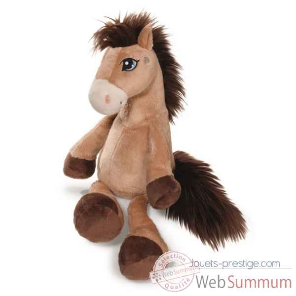 Peluche cheval moon marron clair 80cm Nici -NI38750