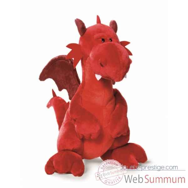 Peluche dragon rouge assis 45cm Nici -NI39828