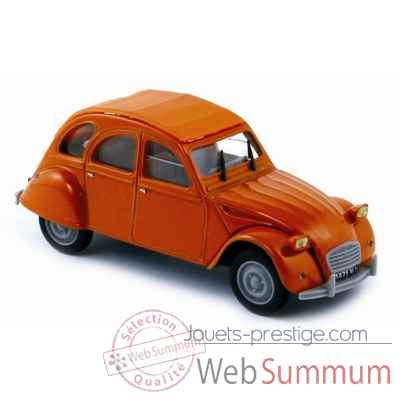 Citroen 2cv6 orange 1975 Norev 156074