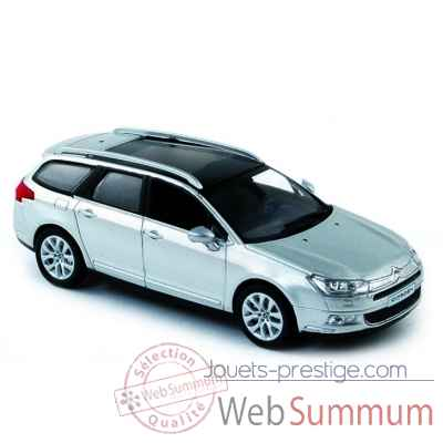 Citroen c5 break gris aluminium 2008 Norev 155582