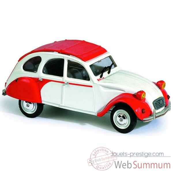 Citroen 2 cv dolly rouge et blanc Norev 151402
