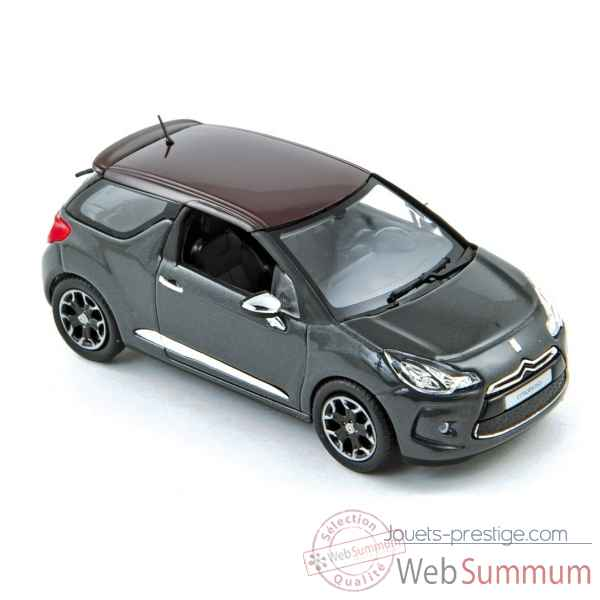 Citroen ds3 2010 grey with red roof  Norev 155282