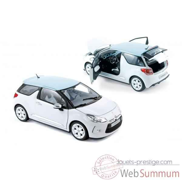 Citroen ds3 2010 white with blue boticcelli roof  Norev 181540