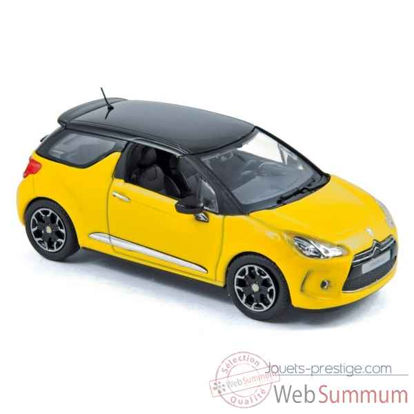 Citroen ds3 2010 yellow with black roof  Norev 155284