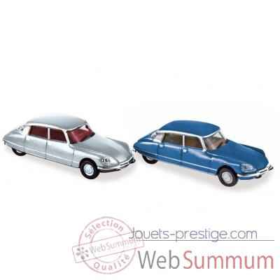 Coffret x 4 citroen ds23 1972 silver / blue Norev 157062