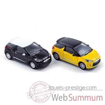 Coffret x 4 citroen ds3 2010 onyx black and pegase yellow  Norev 155291