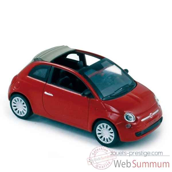 Fiat 500 cabriolet 2009 pearl red Norev 770034