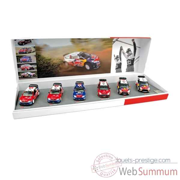 Gift box loeb/elena winner for the 6th consecutive year of wrc in2009 Norev 155430