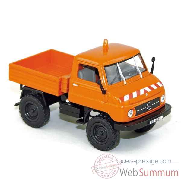 Mercedes benz unimog u-411 1956 orange Norev 351173