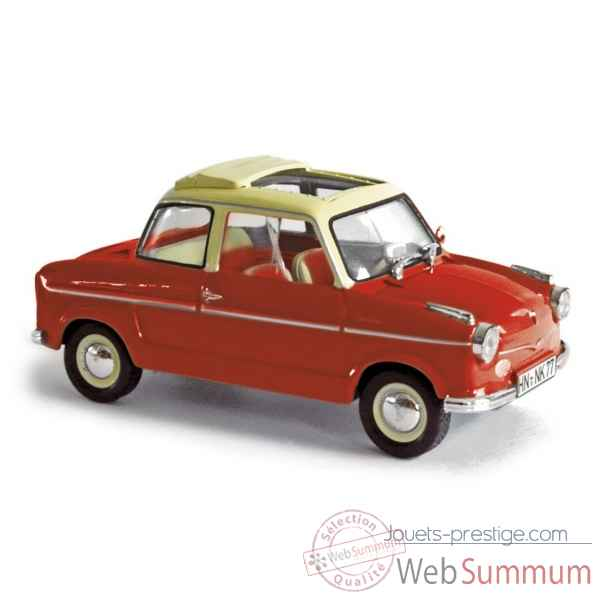 Nsu prinz i 1958 ruby red with sun roof  Norev 831012