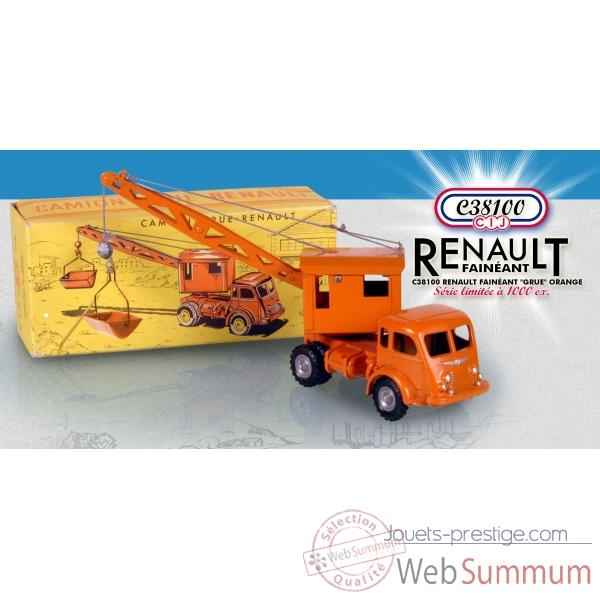 Renault faineant grue orange ( Norev C38100