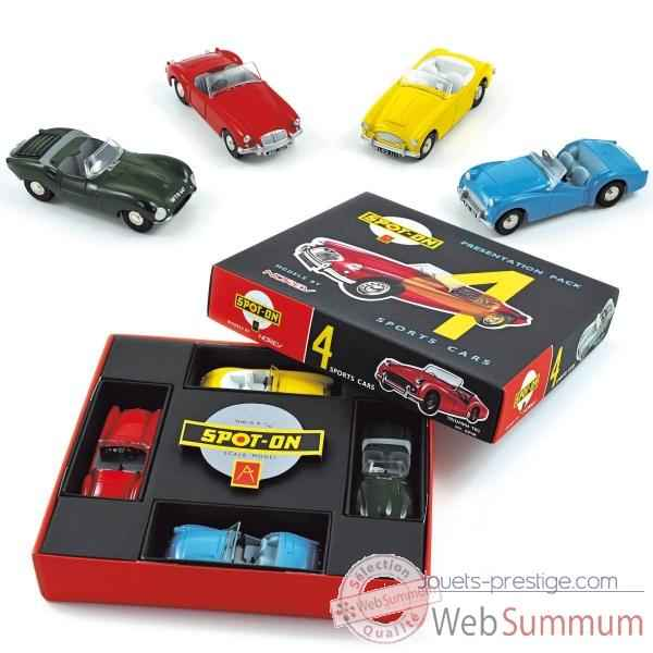 Sport cars set mga red, austin yellow, jaguar green, triumph blue Norev SONPS4