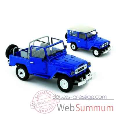 Toyoya land cruiser bj40 bleu royal (version europe) 1980 Norev 800353