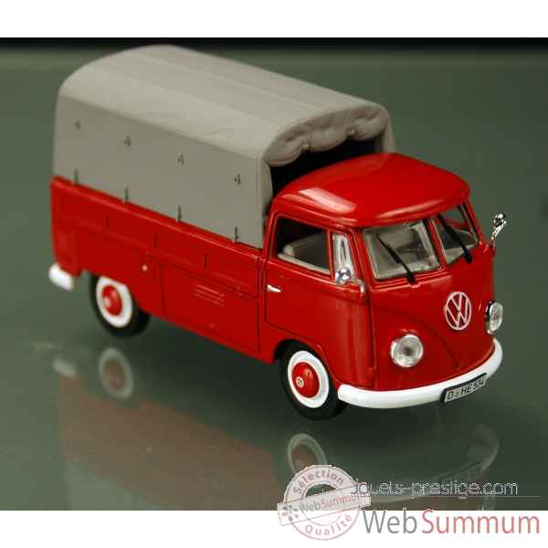 Volkswagen t1b pick-up rouge 1958 Norev 840205