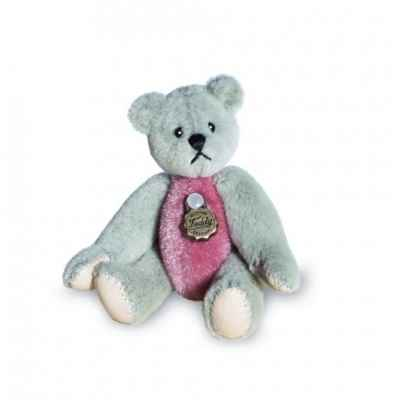 Mini peluche de collection ours Teddy gris et rose 5,5 cm  Hermann -15448 8