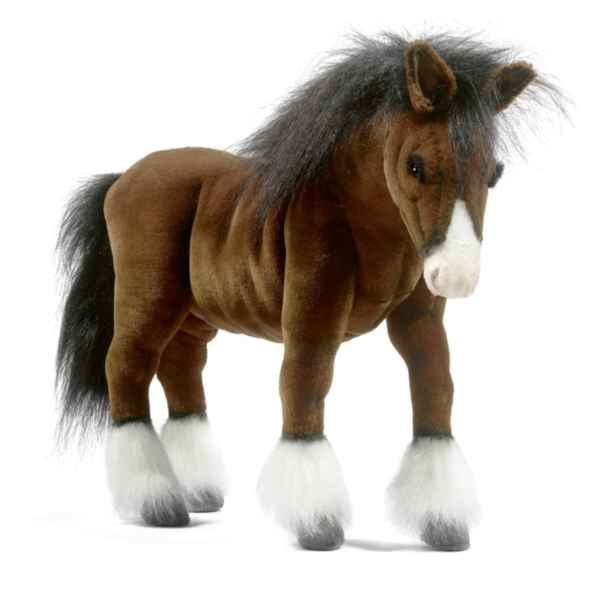 Peluche Cheval de trait Clydesdale Anima-5443