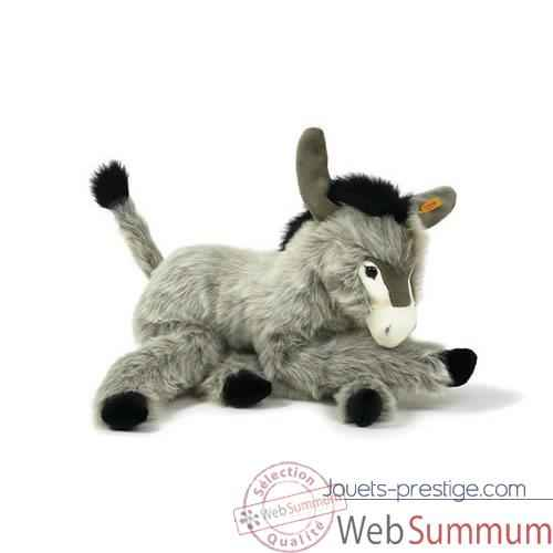 Peluche Steiff Ane Issy couche gris-101571
