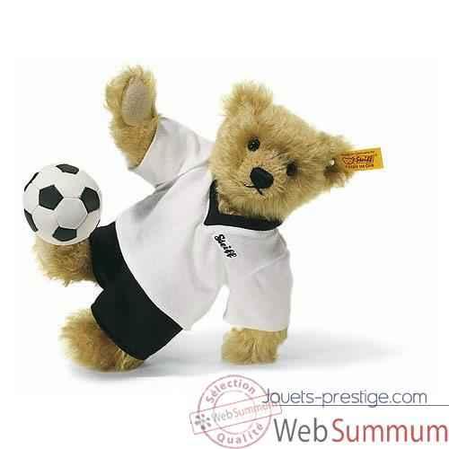 Bonne Mardi Peluche-steiff-ours-teddy-joueur-football-mohair-blond-002908
