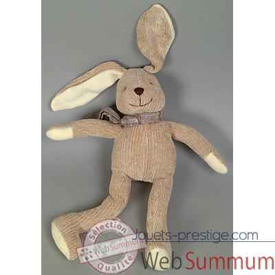 Les Petites Marie - Peluche collection maille chenille, Lapin gaston