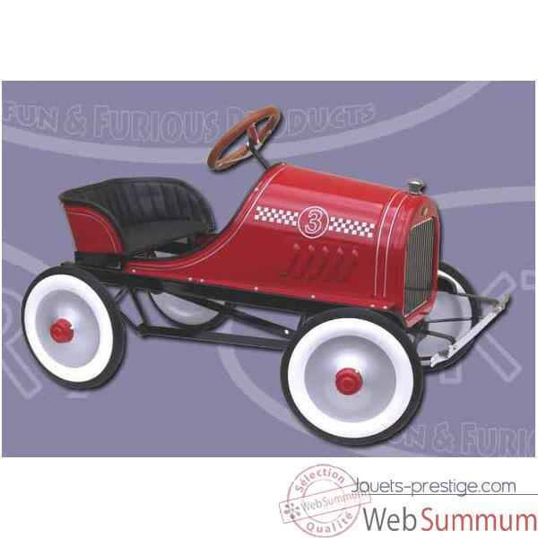 Piktor-P623-Voiture a pedale Classic Race rouge.