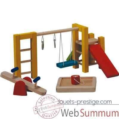 aire de jeux en bois plan toys 7153 dans meubles maison de poup es de poup e. Black Bedroom Furniture Sets. Home Design Ideas