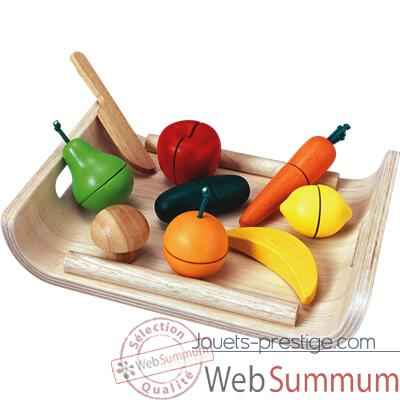 Video Fruits et legumes assortis en bois - Plan Toys 3416