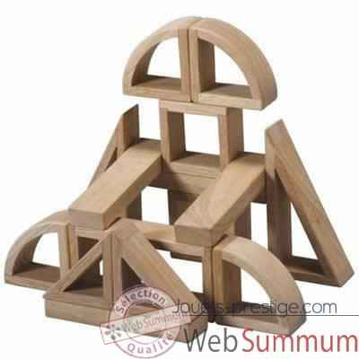 Video Mini blocs en bois naturel en bois - Plan Toys 5530