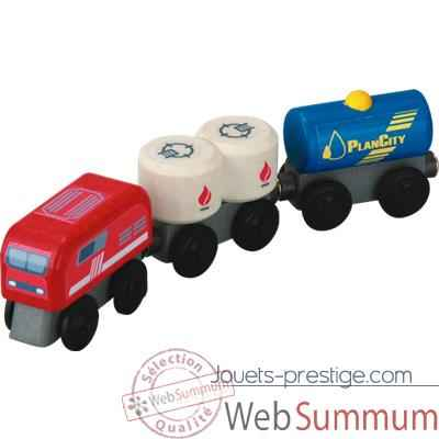 Train a combustible en bois - Plan Toys 6094