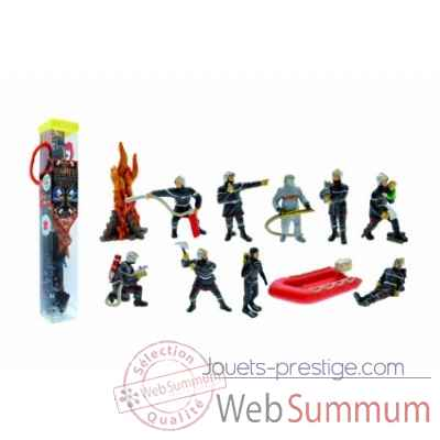 Collection les tubos tubo les pompiers 11 Figurine Plastoy 70368